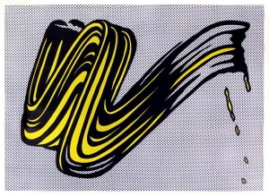 Brushstroke. Roy Lichtenstein, 1965.