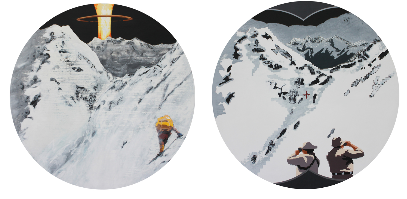 Tabo Tai-Chun Chou We always have different congnitive 2011 acrylic on canvas 26 inch diameter