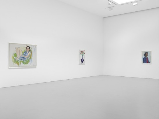 Alice Neel: Late Portaits & Still Lifes installation shot. (Courtesy of David Zwirner Gallery ©)